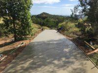 Plain concrete road on Acreage