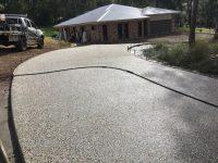 Acreage property driveway